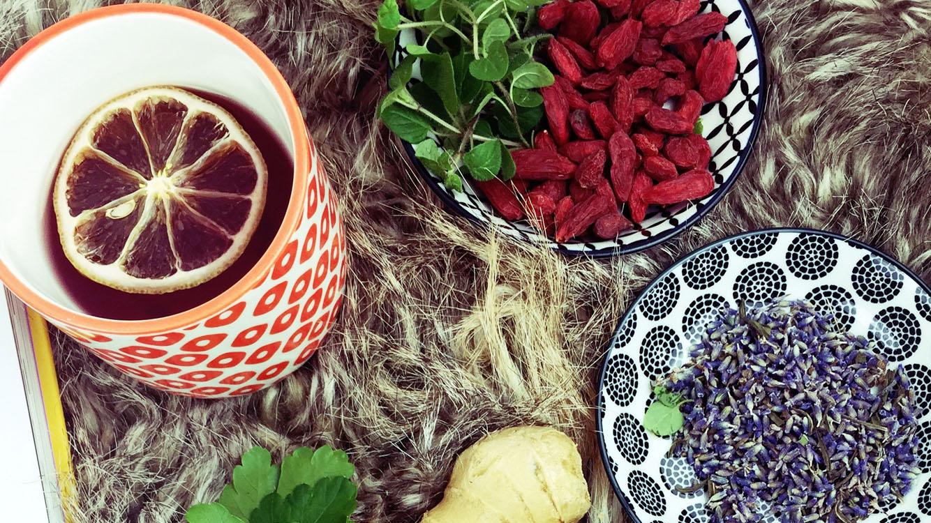 Ingwer-Lavendel Tee und Thymian Balsam